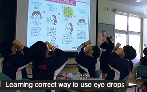 Learning correct way to use eye drops